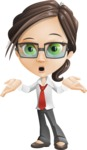 Little Business Girl Cartoon Vector Character AKA Nikki the Cute Geeky - Oops