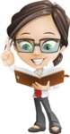 Little Business Girl Cartoon Vector Character AKA Nikki the Cute Geeky - Book3