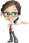 Little Business Girl Cartoon Vector Character AKA Nikki the Cute Geeky - Showcase