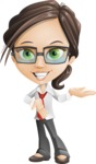 Little Business Girl Cartoon Vector Character AKA Nikki the Cute Geeky - Showcase2