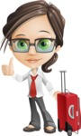 Little Business Girl Cartoon Vector Character AKA Nikki the Cute Geeky - Travel1