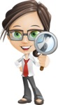 Little Business Girl Cartoon Vector Character AKA Nikki the Cute Geeky - Search