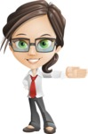 Little Business Girl Cartoon Vector Character AKA Nikki the Cute Geeky - Show