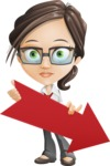 Little Business Girl Cartoon Vector Character AKA Nikki the Cute Geeky - Pointer3