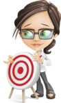 Little Business Girl Cartoon Vector Character AKA Nikki the Cute Geeky - Target