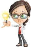 Little Business Girl Cartoon Vector Character AKA Nikki the Cute Geeky - woman vector female cartoon character design - business idea