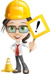 Little Business Girl Cartoon Vector Character AKA Nikki the Cute Geeky - Under Construction1