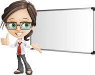 Little Business Girl Cartoon Vector Character AKA Nikki the Cute Geeky - Presentation3
