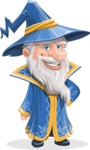 Wizard with a Hat Cartoon Vector Character AKA Waldo the Wise Wizard - Normal