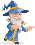 Wizard with a Hat Cartoon Vector Character AKA Waldo the Wise Wizard - Point 2