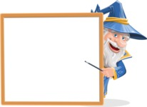 Wizard with a Hat Cartoon Vector Character AKA Waldo the Wise Wizard - Presentation 4