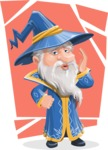 Wizard with a Hat Cartoon Vector Character AKA Waldo the Wise Wizard - Shape 5