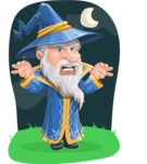 Wizard with a Hat Cartoon Vector Character AKA Waldo the Wise Wizard - Shape 6