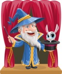 Wizard with a Hat Cartoon Vector Character AKA Waldo the Wise Wizard - Shape 8
