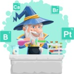 Wizard with a Hat Cartoon Vector Character AKA Waldo the Wise Wizard - Shape 9