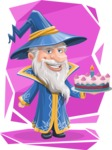 Wizard with a Hat Cartoon Vector Character AKA Waldo the Wise Wizard - Shape 10
