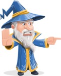 Wizard with a Hat Cartoon Vector Character AKA Waldo the Wise Wizard - Direct Attention 2