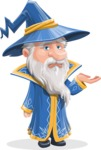 Wizard with a Hat Cartoon Vector Character AKA Waldo the Wise Wizard - Sorry