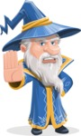 Wizard with a Hat Cartoon Vector Character AKA Waldo the Wise Wizard - Stop 1