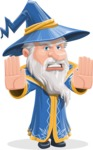 Wizard with a Hat Cartoon Vector Character AKA Waldo the Wise Wizard - Stop 2