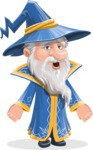 Wizard with a Hat Cartoon Vector Character AKA Waldo the Wise Wizard - Stunned
