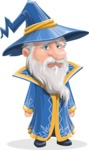 Wizard with a Hat Cartoon Vector Character AKA Waldo the Wise Wizard - Sad