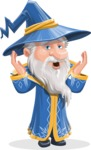 Wizard with a Hat Cartoon Vector Character AKA Waldo the Wise Wizard - Shocked