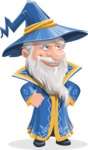 Wizard with a Hat Cartoon Vector Character AKA Waldo the Wise Wizard - Roll Eyes