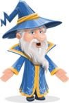 Wizard with a Hat Cartoon Vector Character AKA Waldo the Wise Wizard - Lost