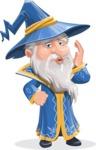 Wizard with a Hat Cartoon Vector Character AKA Waldo the Wise Wizard - Duckface