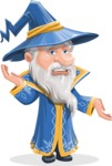 Wizard with a Hat Cartoon Vector Character AKA Waldo the Wise Wizard - Confused