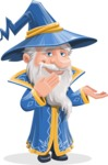 Wizard with a Hat Cartoon Vector Character AKA Waldo the Wise Wizard - Oops
