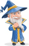 Wizard with a Hat Cartoon Vector Character AKA Waldo the Wise Wizard - Patient
