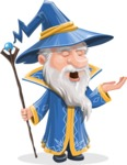 Wizard with a Hat Cartoon Vector Character AKA Waldo the Wise Wizard - Bored 2