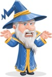 Wizard with a Hat Cartoon Vector Character AKA Waldo the Wise Wizard - Scary