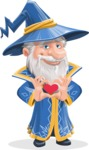 Wizard with a Hat Cartoon Vector Character AKA Waldo the Wise Wizard - Show Love