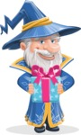 Wizard with a Hat Cartoon Vector Character AKA Waldo the Wise Wizard - Gift