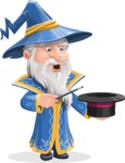 Wizard with a Hat Cartoon Vector Character AKA Waldo the Wise Wizard - Magic 1