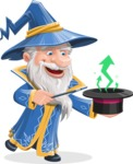 Wizard with a Hat Cartoon Vector Character AKA Waldo the Wise Wizard - Statistics