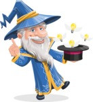 Wizard with a Hat Cartoon Vector Character AKA Waldo the Wise Wizard - Idea