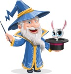 Wizard with a Hat Cartoon Vector Character AKA Waldo the Wise Wizard - Bunny