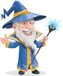 Wizard with a Hat Cartoon Vector Character AKA Waldo the Wise Wizard - Magic 2