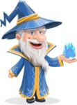 Wizard with a Hat Cartoon Vector Character AKA Waldo the Wise Wizard - Magic 3