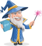 Wizard with a Hat Cartoon Vector Character AKA Waldo the Wise Wizard - Magic 4