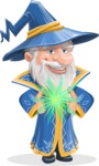Wizard with a Hat Cartoon Vector Character AKA Waldo the Wise Wizard - Magic 5