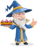 Wizard with a Hat Cartoon Vector Character AKA Waldo the Wise Wizard - Cookies