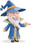 Wizard with a Hat Cartoon Vector Character AKA Waldo the Wise Wizard - Showcase 1