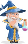 Wizard with a Hat Cartoon Vector Character AKA Waldo the Wise Wizard - Decoction 1