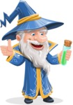 Wizard with a Hat Cartoon Vector Character AKA Waldo the Wise Wizard - Decoction 2