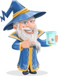 Wizard with a Hat Cartoon Vector Character AKA Waldo the Wise Wizard - Eye in a Jam